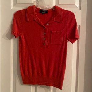 Coral collared shirt